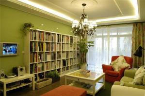 混搭风小户型客厅书柜