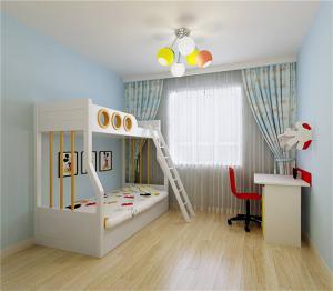 儿童房设计上下床家具图片
