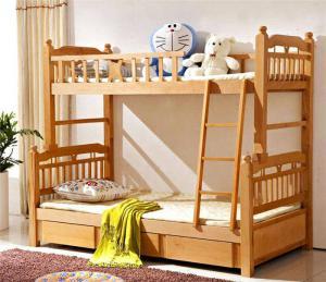 实木儿童房设计上下床