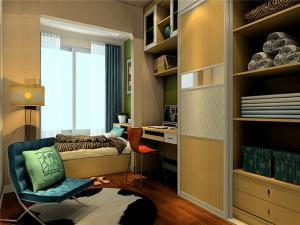 家居实用卧室转角书桌加衣柜