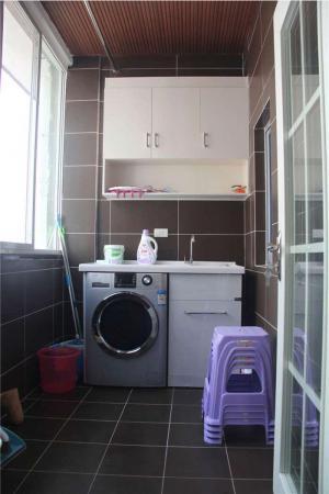 最新阳台洗衣池效果图