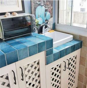 地中海阳台洗衣池效果图
