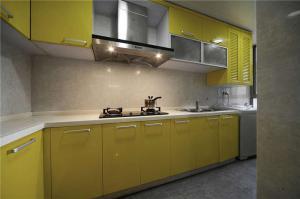 黄色简易橱柜