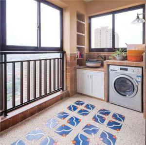 家装美式风格阳台效果图