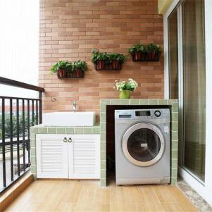 露台洗衣机放阳台效果图