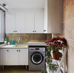 洗衣机放阳台效果图家具设计
