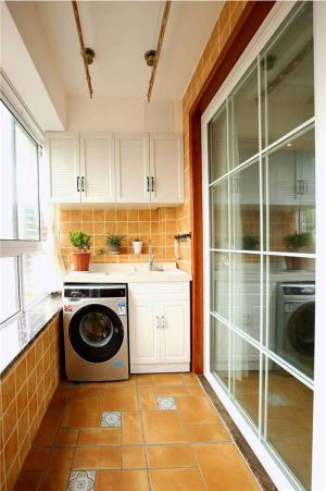 免费洗衣机放阳台效果图