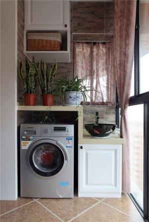 简约洗衣机放阳台效果图