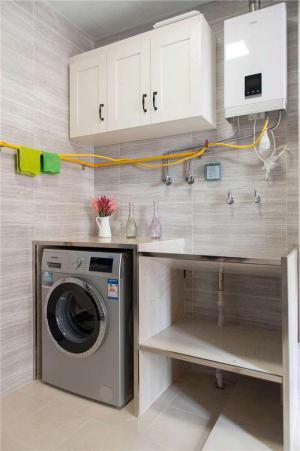 实用型阳台洗衣池效果图