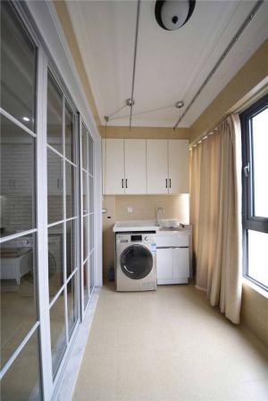 时尚风格洗衣机放阳台效果图
