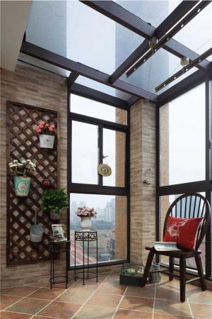 复古美式风格阳台效果图