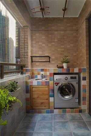 高清洗衣机放阳台效果图