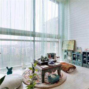 做旧家具美式风格阳台效果图