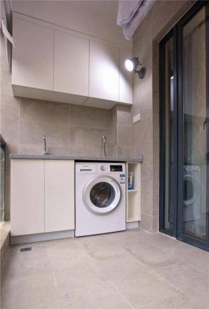 洗衣机放阳台效果图搭配