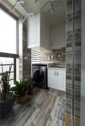 阳台洗衣池效果图定制