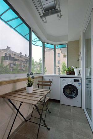 简易洗衣机放阳台效果图