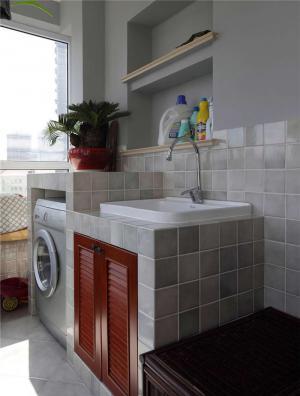 洗衣机放阳台效果图装修