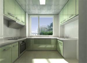 小清新不锈钢厨房橱柜