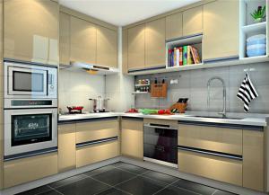浅色整体厨房橱柜