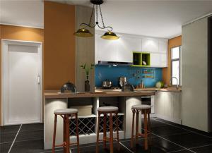 开放式整体厨房橱柜