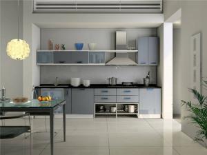 一字型不锈钢厨房橱柜